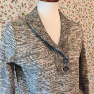 Banana Republic Long Sleeved Sweatshirt Gray Marl